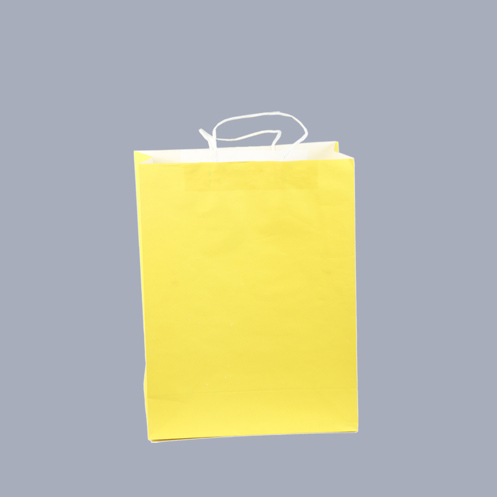 Paper bag yellow - Lyellof Lemon Yellow Front